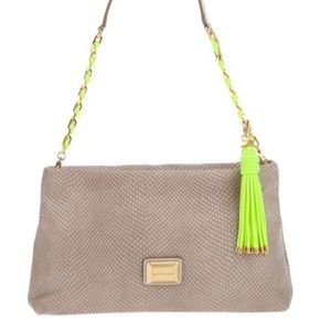 Marc Jacobs snakeskin and neon purse clutch